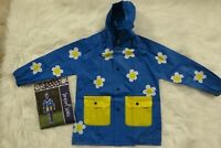 Lilly of New York Toddler Girls Hooded Blue Yellow Daisies Rain Jacket 2T 3T 4/5