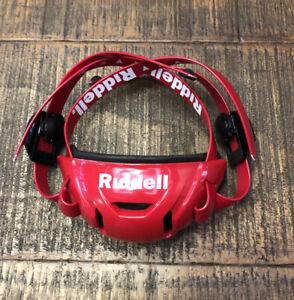 New Riddell SpeedFlex Red Medium Hard Cup Chin Strap