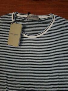 JOHN SMEDLEY RIGNEY Mens Striped Cotton Pullover Size XXL BNWT RRP £175