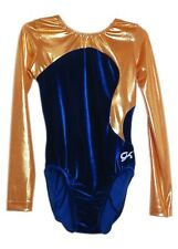 Gk Elite Royal Velvet/Sunshine Mystique Gymnastics Leotard - As Adult Small 4070