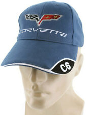 Corvette C6 Blue Baseball Cap Trucker Hat Snapback Stingray Flags Racing Logo