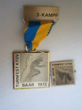 Turnfest Ktsv Baar 1972 Switzerland ? Germany ? Gymnastics Sport Medal Medaille