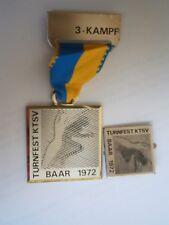Turnfest Ktsv Baar 1972 Switzerland ? Germany ? Gymnastics Sport Medal Medaille