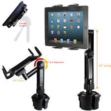 LONG ARM Car Cup Holder TRIPOD Mount FOR APPLE iPad MINI AIR PRO LG G PAD TABLET