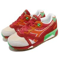 Diadora N9000 NYL Red Green Orange Gum Men Casual Shoes Sneakers 160827-C6118
