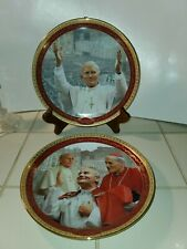 2005 Bradford Exchange Pope John Paul Ii 1st and 2nd Issues Collector's Plates