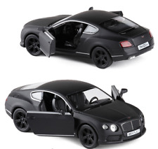 Bentley Continental GT V8 Diecast Alloy Car Model Matte Black 1:36 New Kids Toy