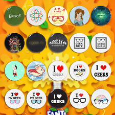 Geeks Art Pin back Badge Pin Badge Button For Geek Tinplate 5.8cm Backpack Decor