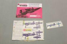 MATCHBOX PK-14 F4U-4 Corsair Aircraft 1/72 Kit INSTRUCTIONS ONLY V21