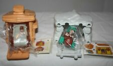 Flintstones McDonald's Kids Meal Toys Wilma & Barney with Cars & Houses Unopened