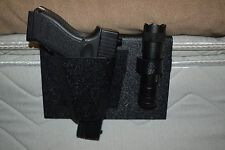 NIGHTHAWK BEDSIDE GUN HOLSTER--WITH FREE FLASHLIGHT GLOCK- MADE IN THE USA