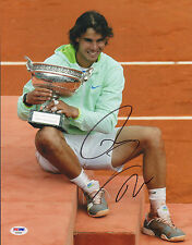 RAFAEL NADAL SIGNED AUTO'D 11X14 PHOTO PSA/DNA COA AB35065 TENNIS FRENCH OPEN US