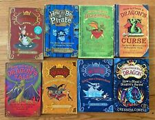 HOW TO TRAIN YOUR DRAGON Set 8 Books Cressida Cowell Lot