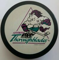 KENTUCKY THOROUGHBLADES AHL OFFICIAL MADE IN SLOVAKIA VEGUM HOCKEY PUCK VINTAGE