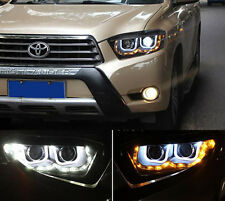 LED U Style Headlights With AngelEyes For Toyota Highlander Kluger 2008-2010