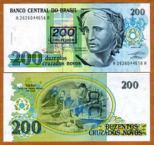 Brazil, 200 cruzeiros on 200 Cruzados Novos, ND (1990), P-225 (225b), UNC