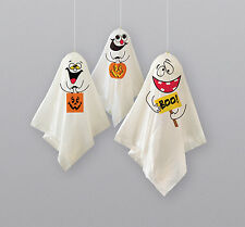 HALLOWEEN GHOST HANGING DECORATIONS x 3