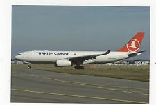 Turkish Cargo Airbus A330-243F Aviation Postcard, A709