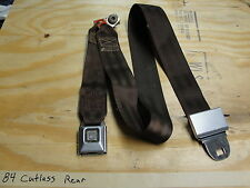 OEM 78-87 Cutlass Malibu Monte 442- REAR SEAT BELT RECEIVER & BUCKLE (Dk Brown)