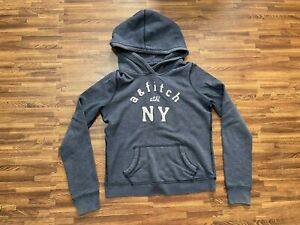 """Abercrombie Kids Hoodie Long Sleeve Blue """"A & Fitch NY"""" Size XL"""