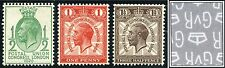 1929 KGV PUC ½d, 1d, 1½d Watermark Inverted SG 434Wi-436Wi