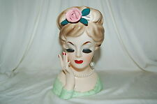 Vintage 1961 Inarco Japan Lady Head Vase E-193/m 6 Inches Tall