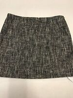 Theory Women's Skirt Black & White Tweed Side Zip Fully Lined Size 6 NWT