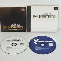 FINAL FANTASY TACTICS FF PS1 Playstation ccc p1