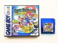 Super Mario Land 2 DX w/ Custom Case (NOW IN COLOR) Nintendo Game Boy GBC Deluxe