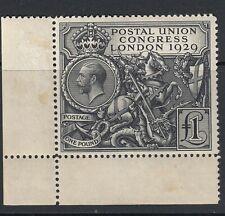 GB KGV Stamp SG438 £1 PUC - Corner marginal - lightly mounted mint