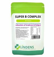 Super Vitamin B Complex B-50 strength High Potency Pack 90 Lindens new formula