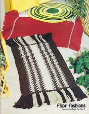 Vtg Macrame Floor Rug Home Decor Patterns Decorate with macrame #914 Craft Book