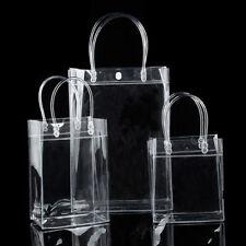 Women Ladies Clear Tote Bag PVC Transparent Ladies Handbag Beach Shoulder Bag