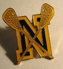 Lacrosse Lapel Pin - Blue & Gold N Team Player School Sports Letterman Jacket