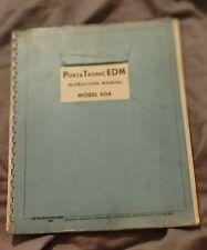 Portatronic Edm Instruction Manual Model 60a
