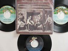LOT OF 4 ' CHARLIE DANIELS ' HIT 45's+1PS[Carolina (I Remember You)] 70's&80's !