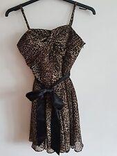 REDHERRING - Ladies Womens Girls Lovely Animal Print Party Dress Size 12