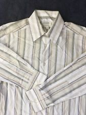 Concepts By Claiborne MENS SMALL Long Sleeve Button Down Dress Shirt Stripes