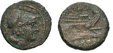 Ancient Rome Republic After 211 BC Triens Minerva Prow Roma