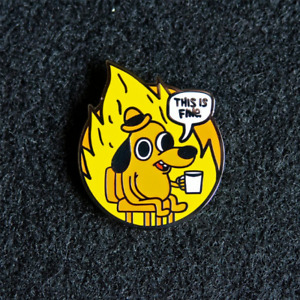 This is fine Pin Badge 2021