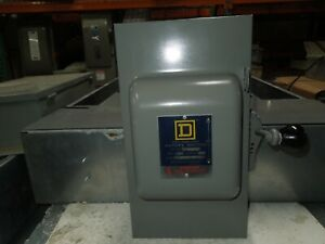 Square D 92251F 30A 2P 240VAC Double Throw Fusible Manual Transfer Switch
