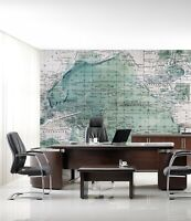 3D Green Map R34 Business Wallpaper Wall Mural Self-adhesive Commerce Zoe