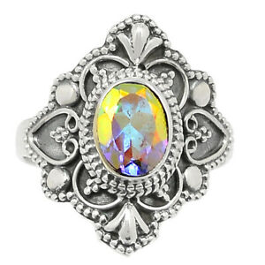 Filigree - Mercury Mystic Topaz 925 Sterling Silver Ring Jewelry s.7 BR107279