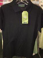 Devon & Jones Ladies Sport Shirt Polo Pima Pique Short Sleeve Large Black