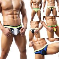 Hot Mens Breathe Underwear Thong Briefs Bulge Pouch G-String Shorts Underpants