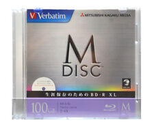 1000 Years Verbatim Bluray M-Disc BD-R XL 100GB 4x Speed Inkjet Printable 1 Pack