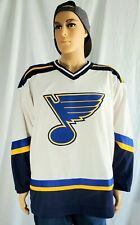 CCM St Louis Blues Jersey Men's  Embroidered NHL Hockey Air Knit Size Large NWOT