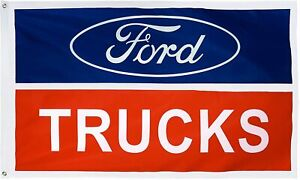 3x5FT Ford Trucks Flag Large Garage Decor Banner Man Cave Car Dad Father's Auto