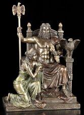 Zeus auf Thron mit Hera Figur - Veronese Statue Götter bronziert