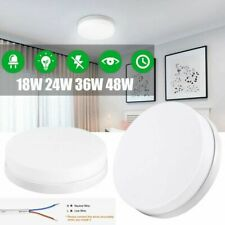 Modern LED Ceiling Light Round Panel Down Lights Bathroom Kitchen Lamp Fixture